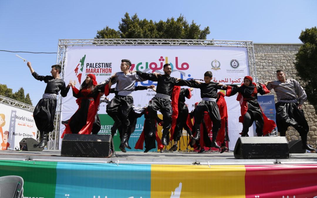 الرواد تحيي الفعاليات الفنية لماراثون فلسطين الدولي السابع