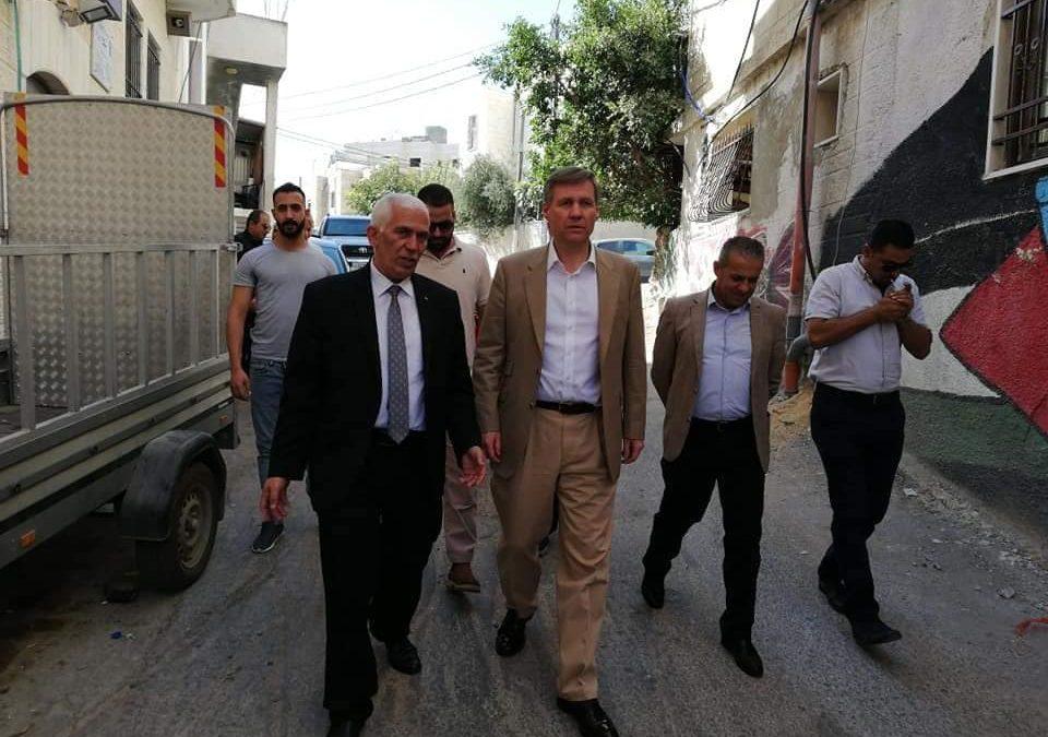 الرواد تستقبل محافظ بيت لحم و القنصل البريطاني في مخيم عايدة