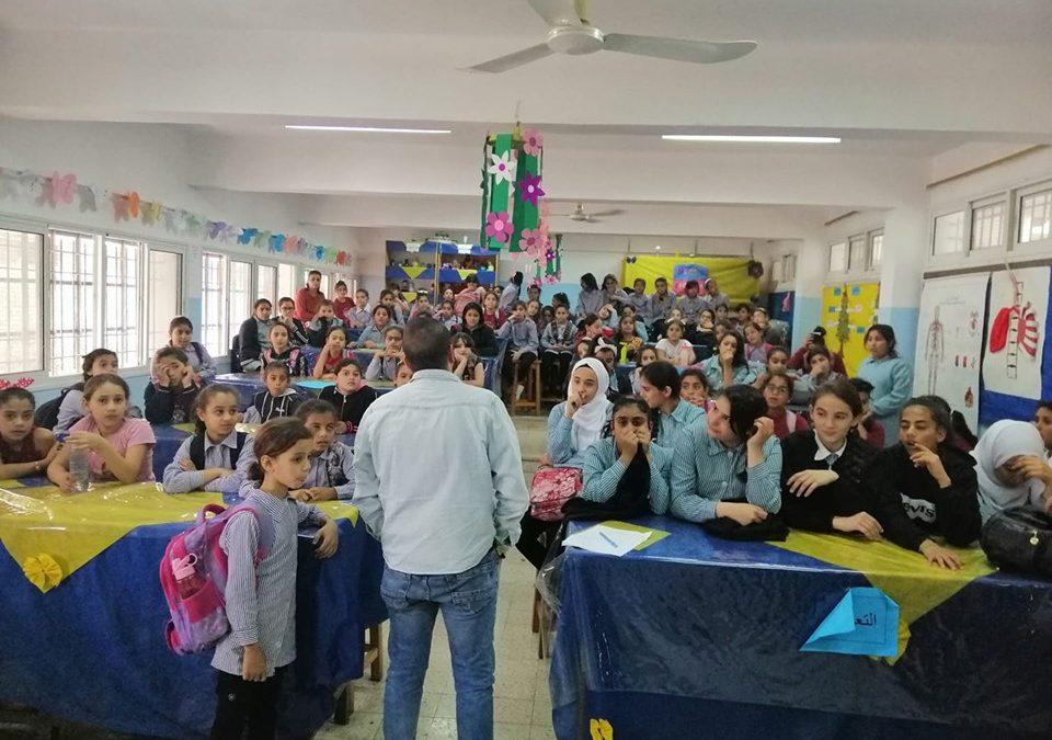 الرواد تلتقي بطلبة مدرسة بنات بيت جالا المختلطة