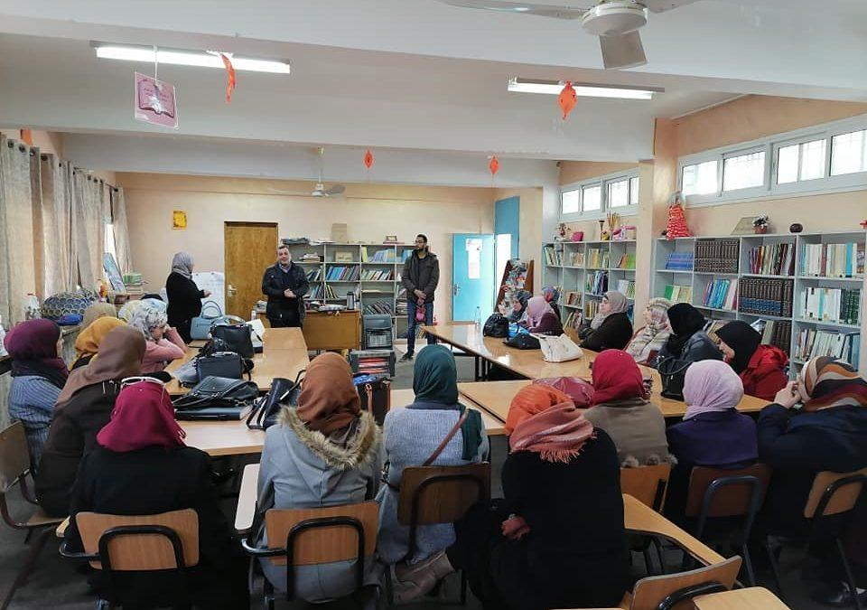 الرواد تلتقي معلمي مدارس الاونروا في مخيم عايدة