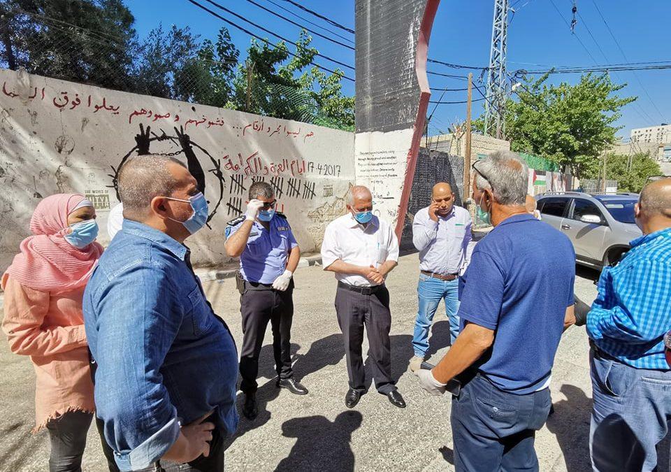 الرواد تشارك في اعمال لجنة الطوارئ لمواجهة إنتشار فايروس كورونا في المخيم