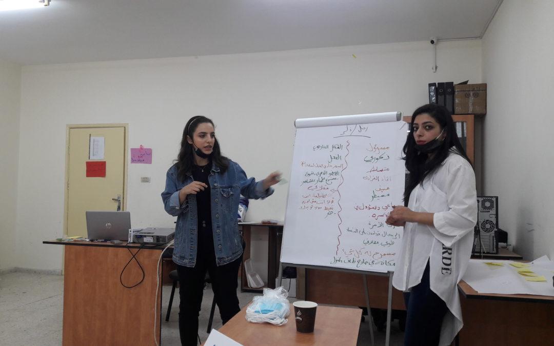 الرواد تشارك في ورشة عمل حول مناهضة العنف ضد المراة