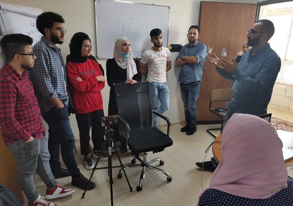 الرواد تقدم الورشة التدريبية الثانية لمخيم صناعة الأفلام في  رام الله