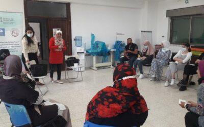 الرواد تنفذ ورشة عمل تفريغية للنساء في مخيم عايدة