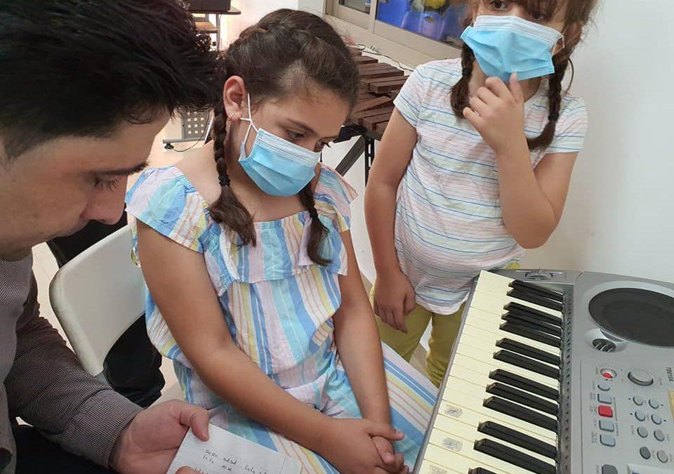 Alrowwad starts their music training for children.