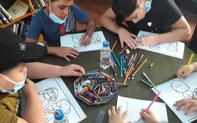 Alrowwad organizes a workshop reading COVID-19 pandemic for children.