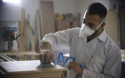 Alrowwad's carpentry prodeuces a number of wooden products