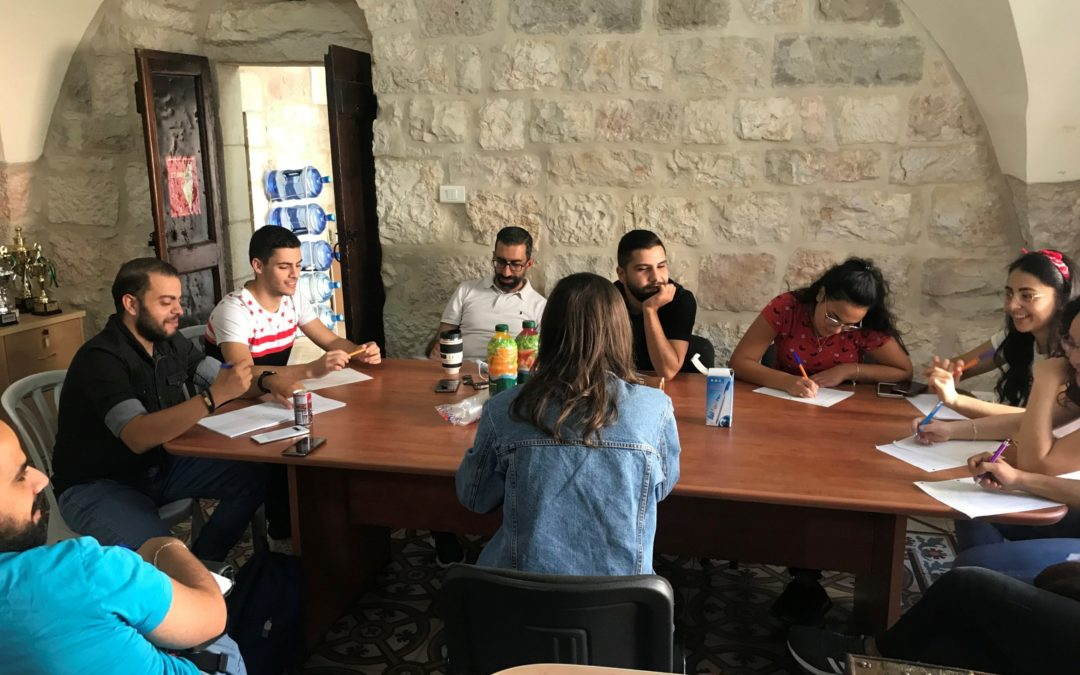 """Alrowwad organize their """"Investment in Human Rights"""" program training sessions in Bethlehem."""