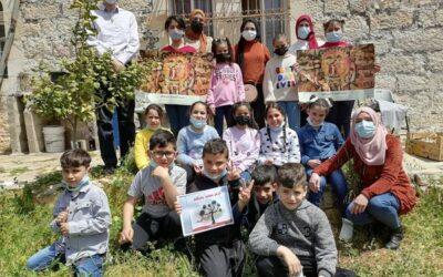 La bibliothèque Alrowwad propose un atelier de lecture pour encourager les enfants à lire