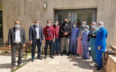 L'Association Alrowwad visite le laboratoire d'examen et d'échantillonnage pour le Corona à Bethléem