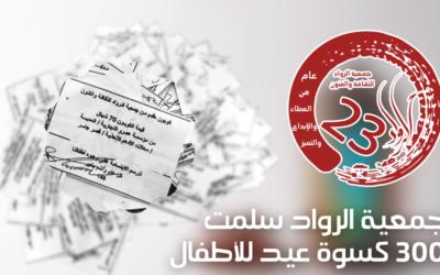 Alrowwad a offert des vêtements à l'occasion de l'Aïd à plus de 300 enfants du camp d'Aida