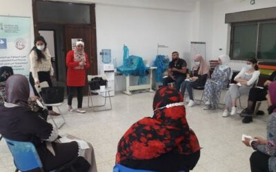 Alrowwad organise un atelier pour les femmes du camp d'Aida